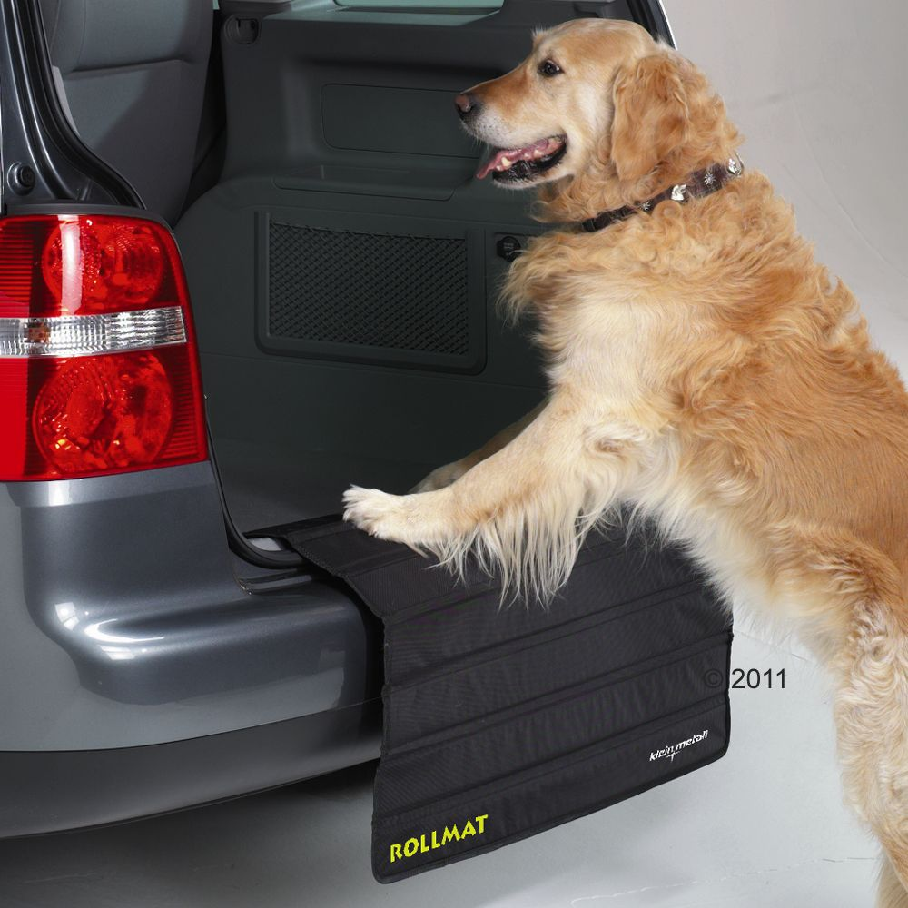 With Rollmat Bumper Protector your dog can jump in and out of your car and you don