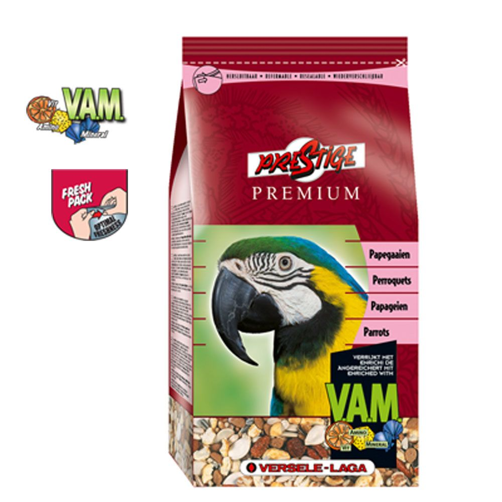 Prestige Premium Parrot is a seed mixture that contains components that parrots need to stay fit