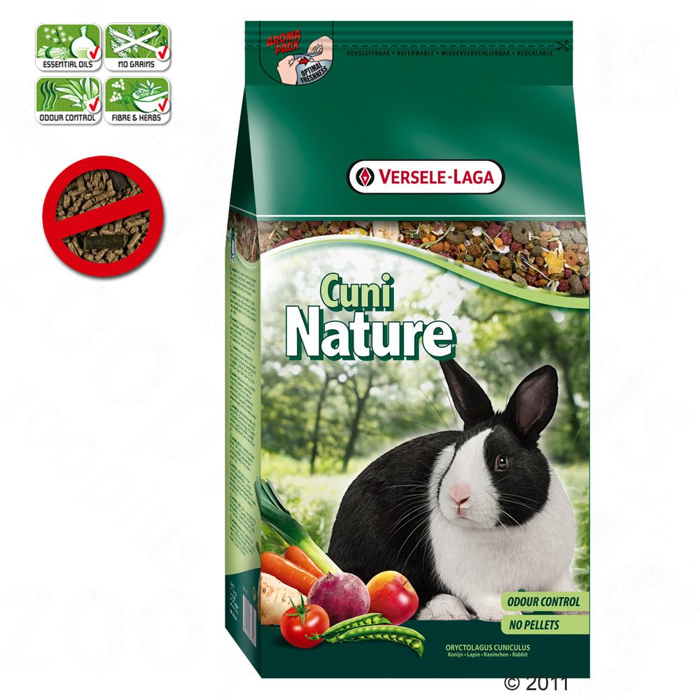 Cuni Nature is a complete feed specially formulated for the needs of rabbits and dwarf rabbits