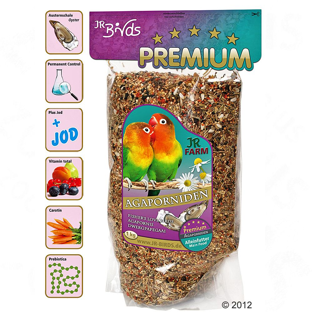 JR Birds Premium Lovebird Feed is a top-quality complete diet for lovebirds