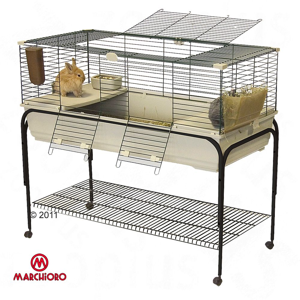 Small Pets cage comes completely furnished & easy to clean