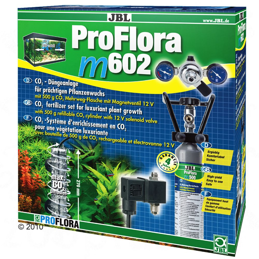 The new JBL ProFlora CO2 systems meet all the wishes of aquarium enthusiasts Extendable CO2 diffuser JBL Taifun whenever more CO2 is needed whether due to denser planting a larger aquarium or because a lower pH level is required the JBL Taifun can be easily extended