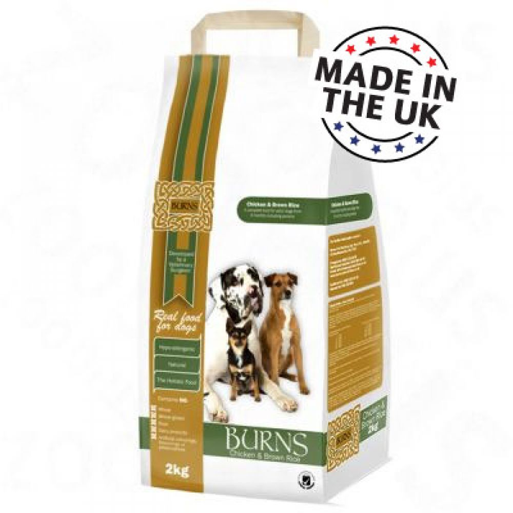 Burns Chicken & Brown Rice is a complete dry food for adult dogs (over 6 months) and is also suitable for senior dogs
