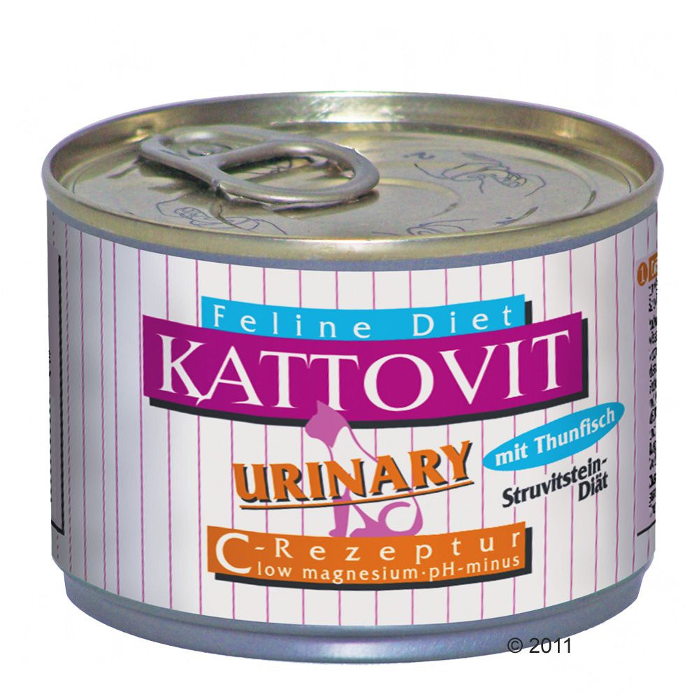 Kattovit Urinary Low Magnesium cat diet has been developed in accordance with the latest scientific findings and has the following characteristic differences from other normal wet cat foods low magnesium (less than 20mg per 100 kcal) pH minus reduces the pH content of cat