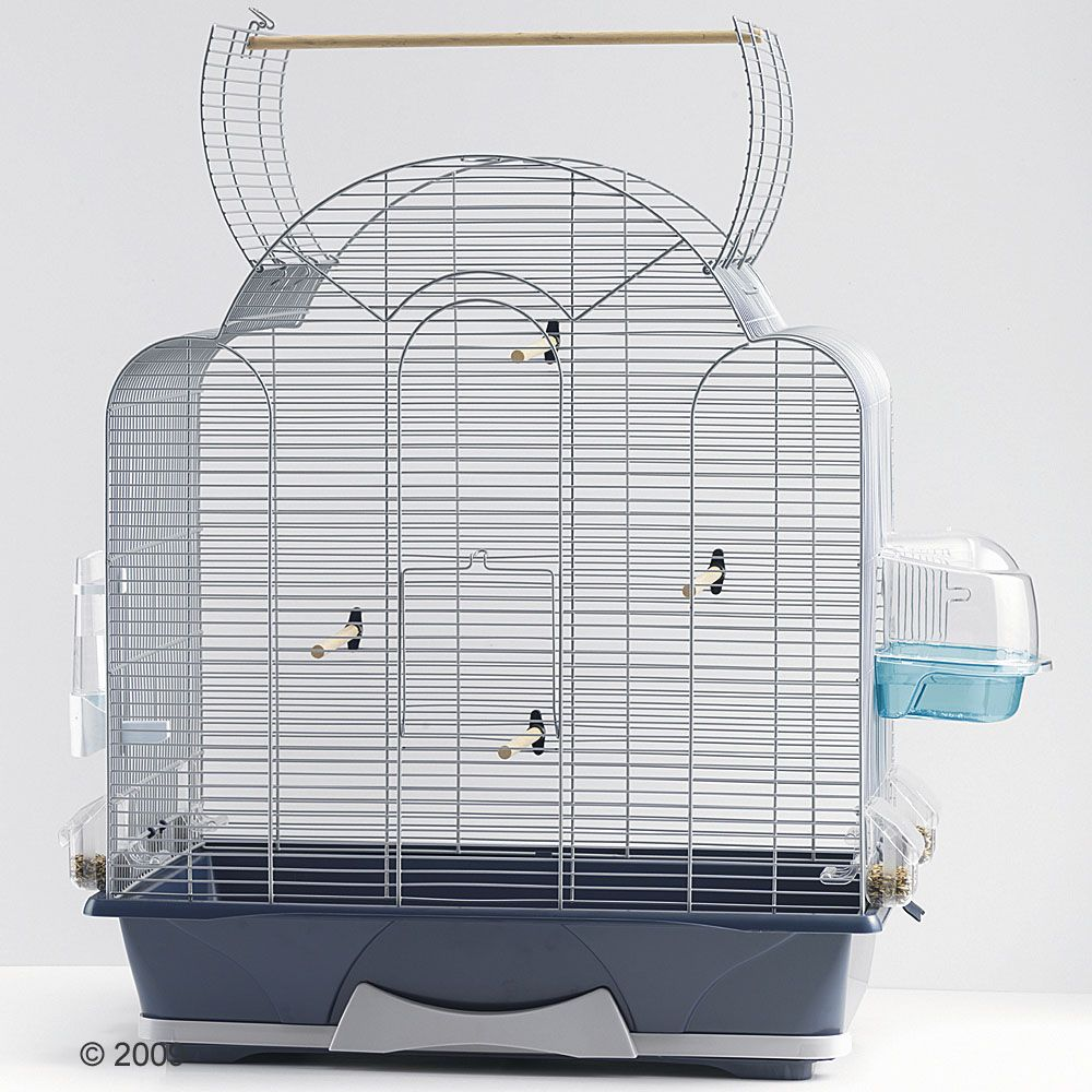 The Savic Melodie 50 Cage is a modern bird cage for all small birds such as parakeets and canaries