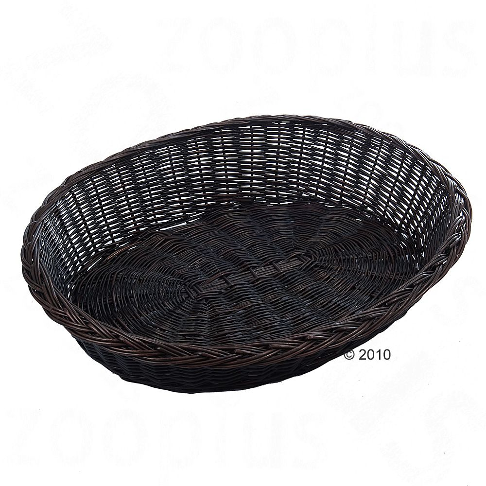 This dark brown dog basket is an excellent fit in any room due to its pleasant neutral color