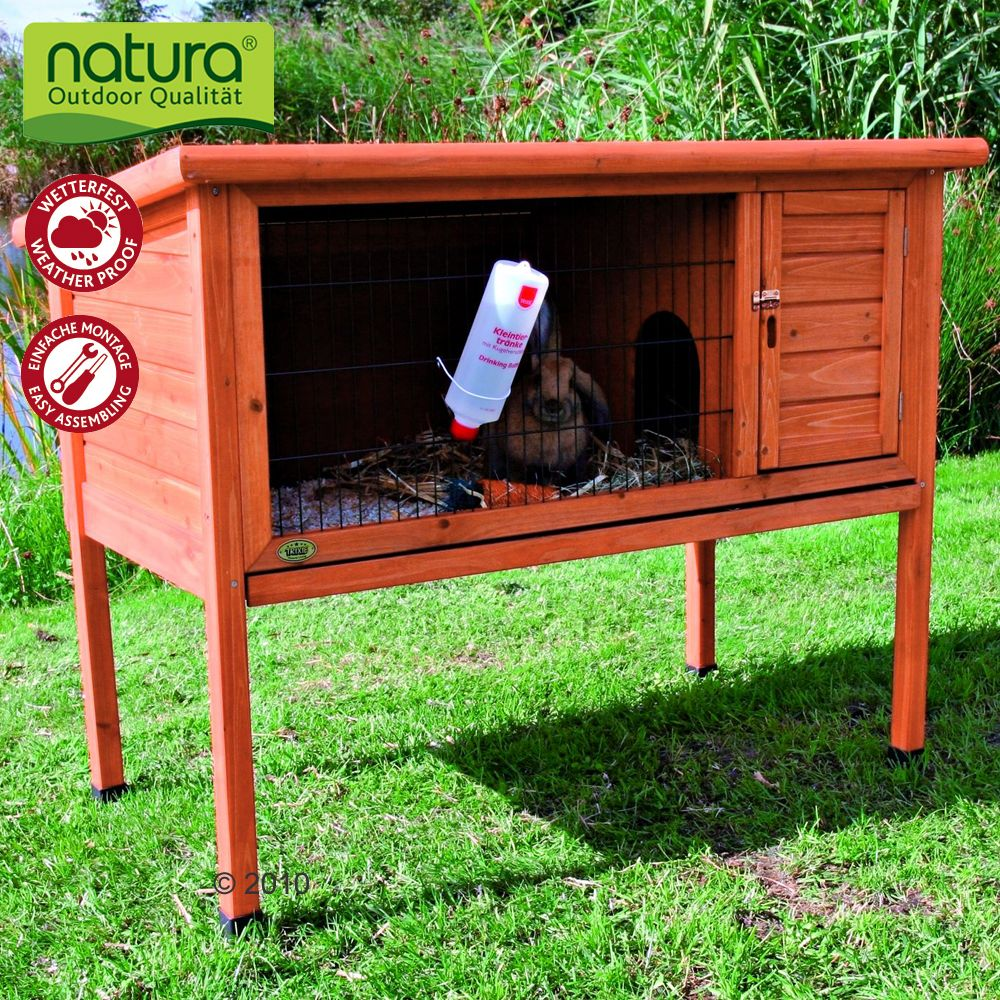 This Trixie Natura rabbit hutch can be opened not only from the front but also from the top for feeding and giving your pet extra ventilation