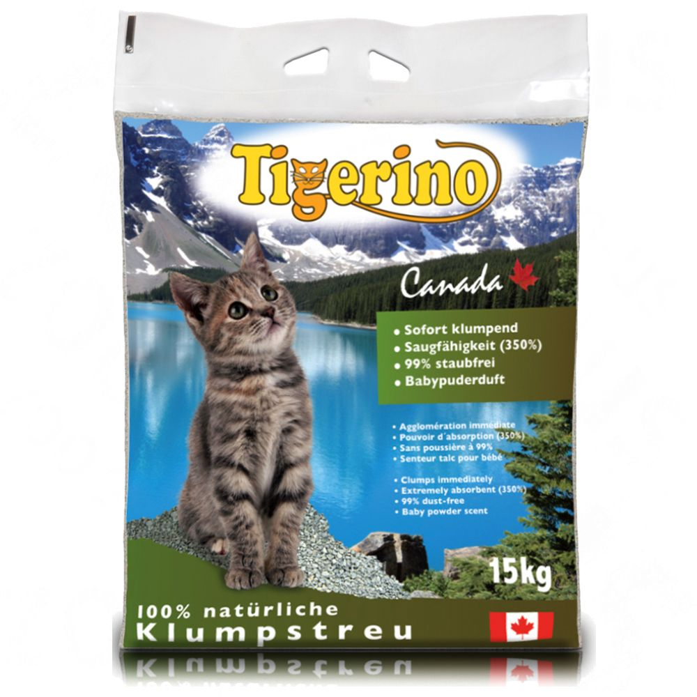 This Tigerino natural clay granule clumping litter made in Canada convinces with its extremely fast clumping