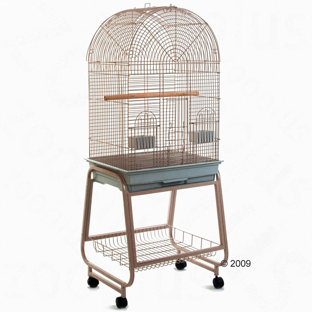 This top-quality bird cage has plenty of clever details and is a real eye catcher