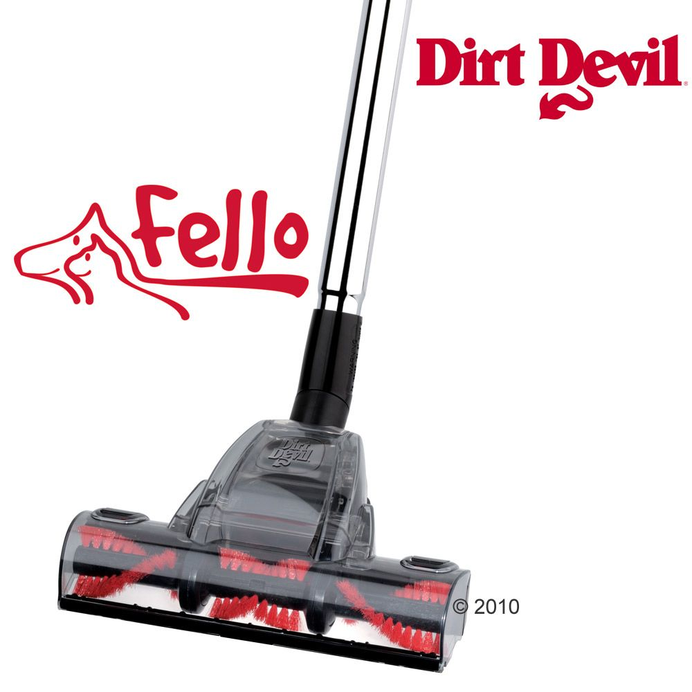 The Dirt Devil Fello Turbo Brush enables you to remove even the smallest dust particles and pet hairs from your carpet