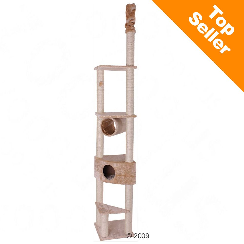 The Ares cat tree is a slim space-saving ceiling-high cat tree which your cat will adore