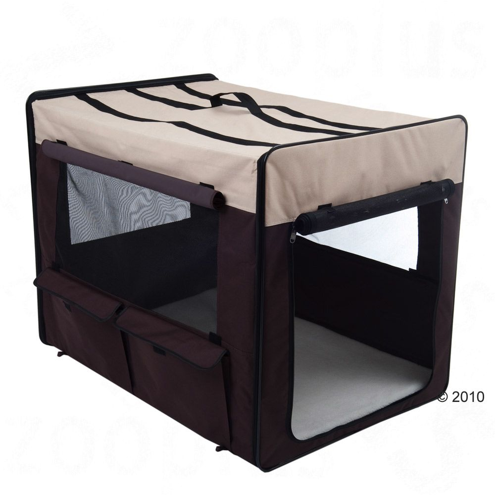 The Dog Travel Crate First Class is a flexible transportable dog crate with lots to offer