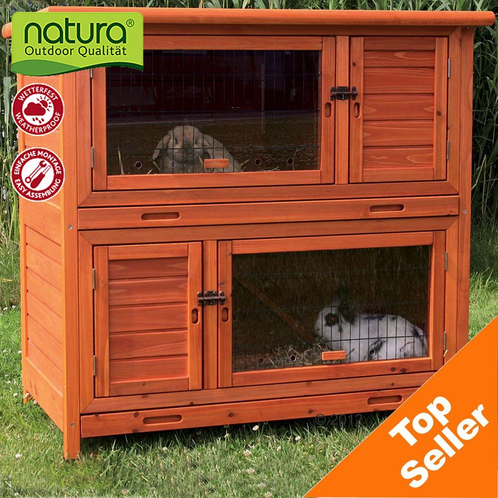The Trixie Natura Hutch 2 in 1 with Insulation gives your pet space to roam