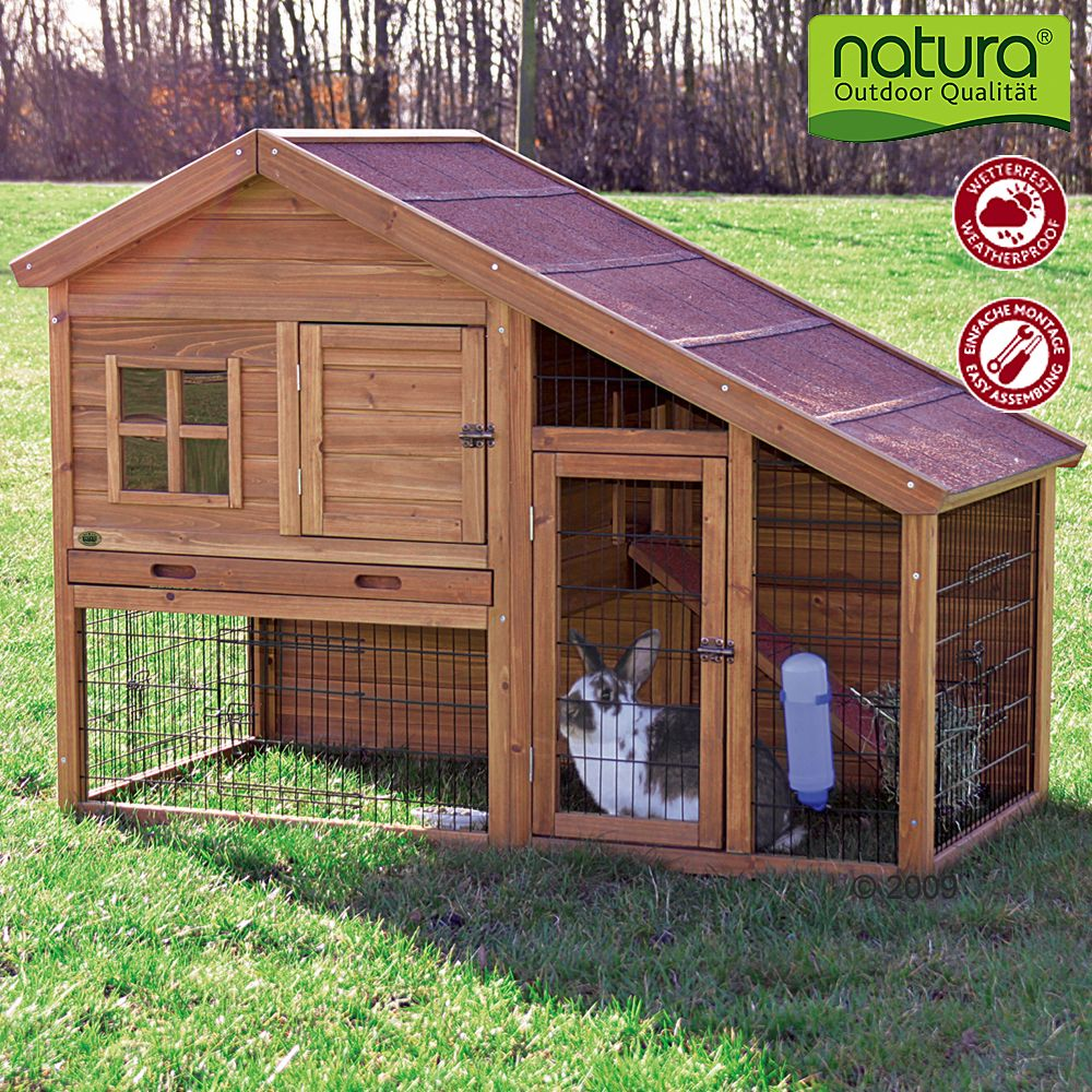 The Pet Hutch Trixie Natura Luxury from premium timber is a luxury home for your small pets and a real eye-catcher in your garden