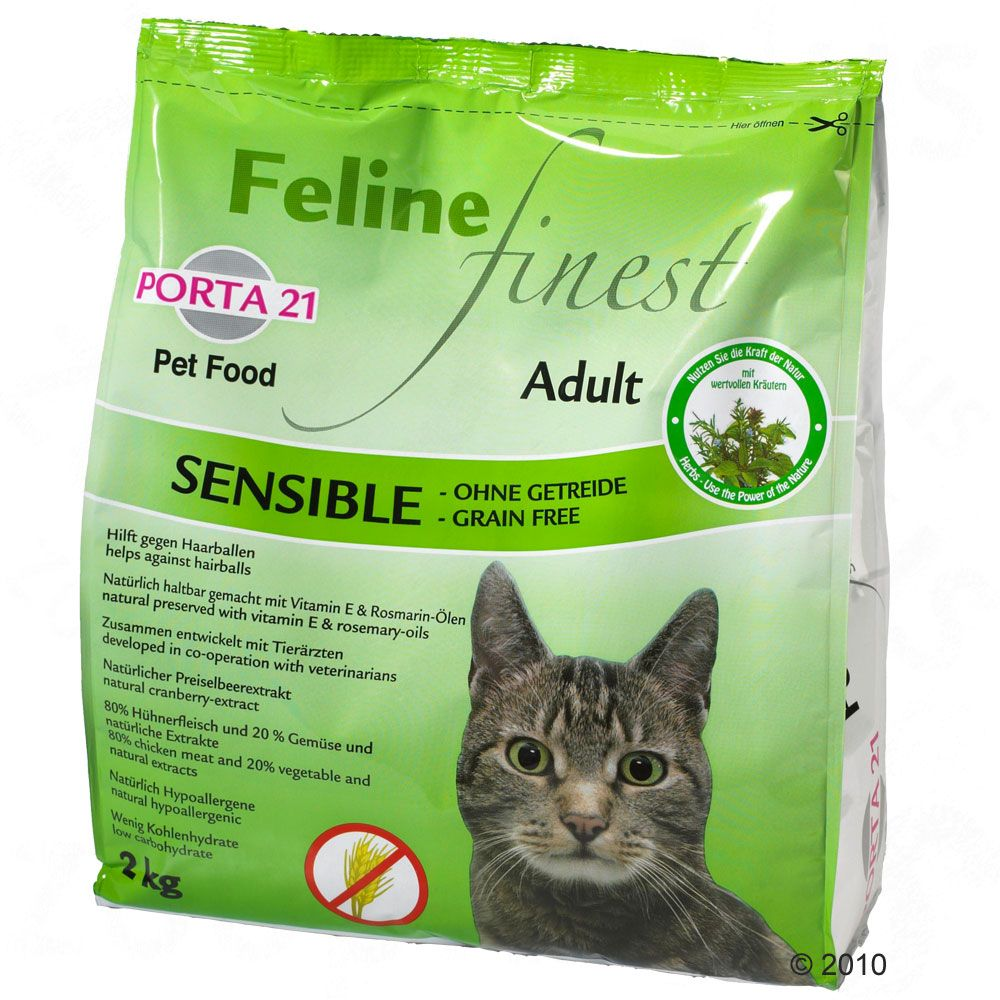 Porta 21 Feline Finest Sensible is a compete food for adult cats