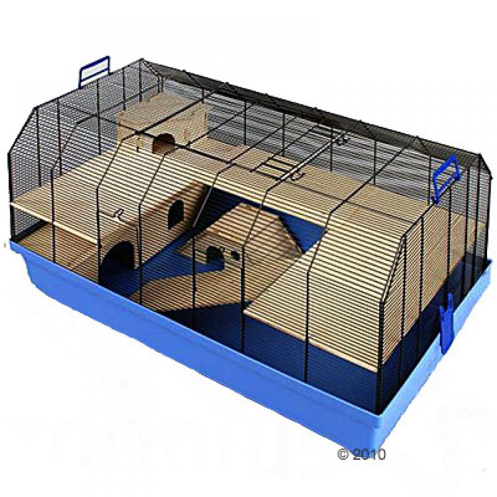 The Alexander small pet cage has added height and an additional play level so your small pet will have plenty of room to play and run around