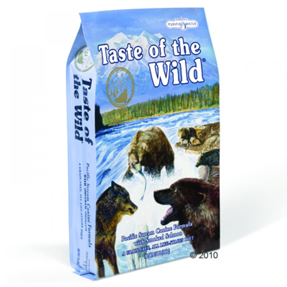 Taste of the Wild Dog Food - Pacific Stream Canine dog food is suitable for all dog breeds and all stages of your dog