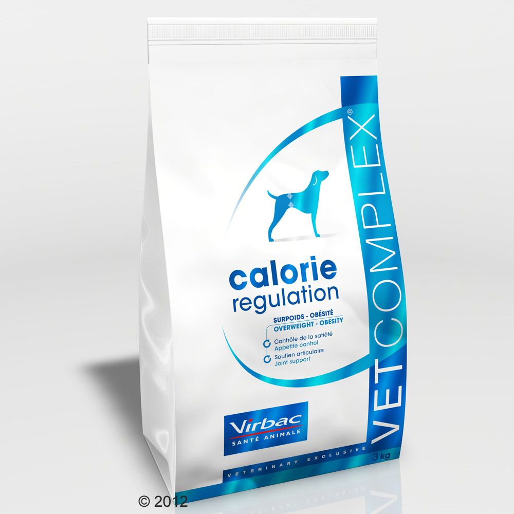 Virbac Vetcomplex Canine Adult Calorie Regulation is a dog food specifically formulated for dogs which need to lose weight but without reducing their muscle mass