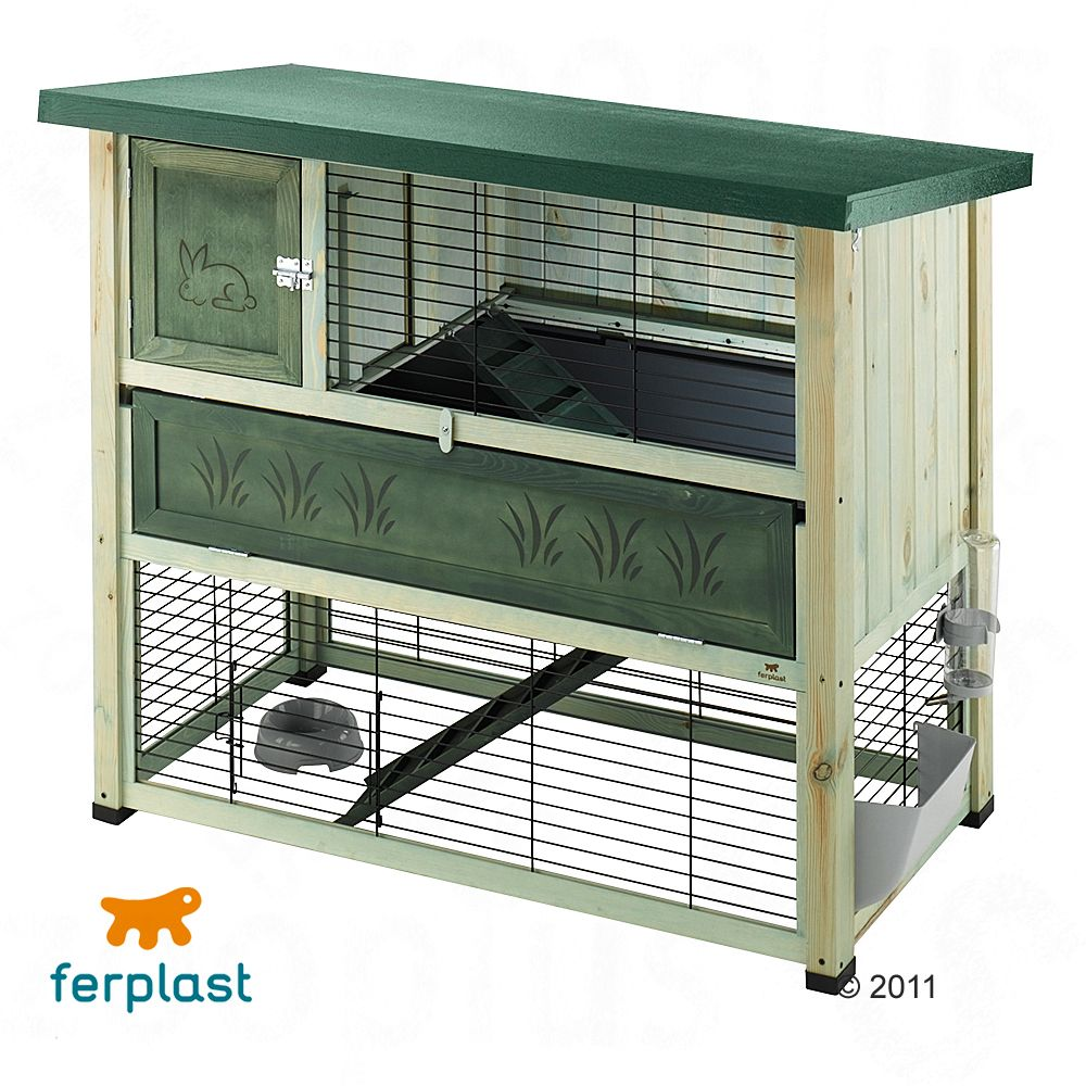 This stunning rabbit hutch is sure to grace any garden