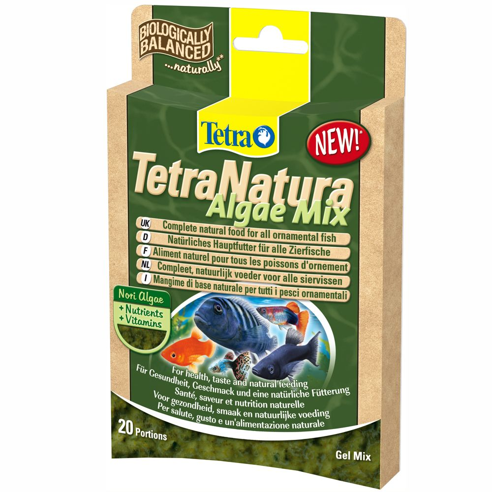 Tetra Natura with the patented gel formula is a complete natural food which is different to other ornamental fish food