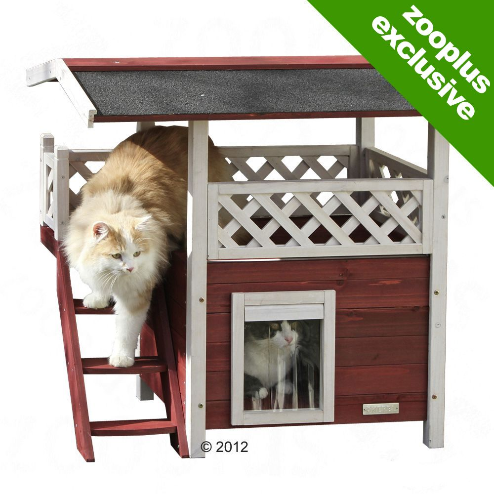 Swedish Cat House Lodge is the perfect hiding and resting place for your kitten or small cat
