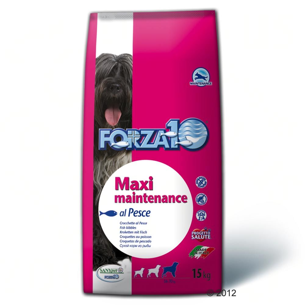 Forza 10 Maxi Maintenance Dog Food with Fish for mature dogs of large breeds