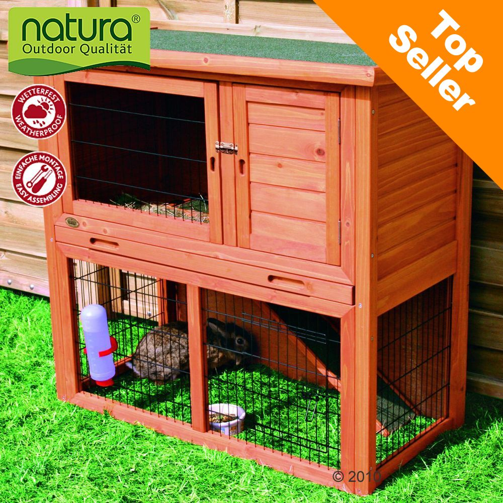 The Trixie Natura Single Rabbit Hutch is made of high-quality pine and special coated roof to resist rain