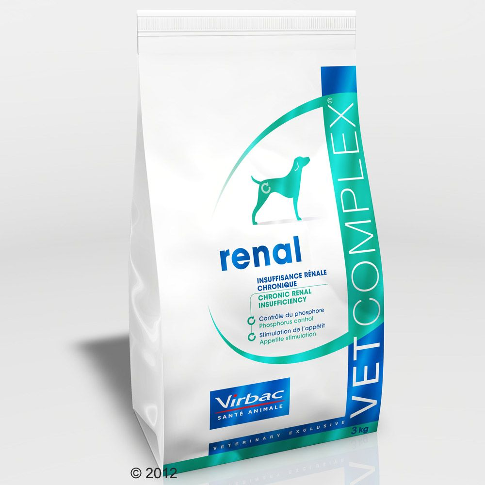 Correct nutrition is the best way to help chronic renal insufficiency and Virbac Vetcomplex Canine Senior Cardio Renal is a dog food specifically formulated for dogs with cardiac or renal problems