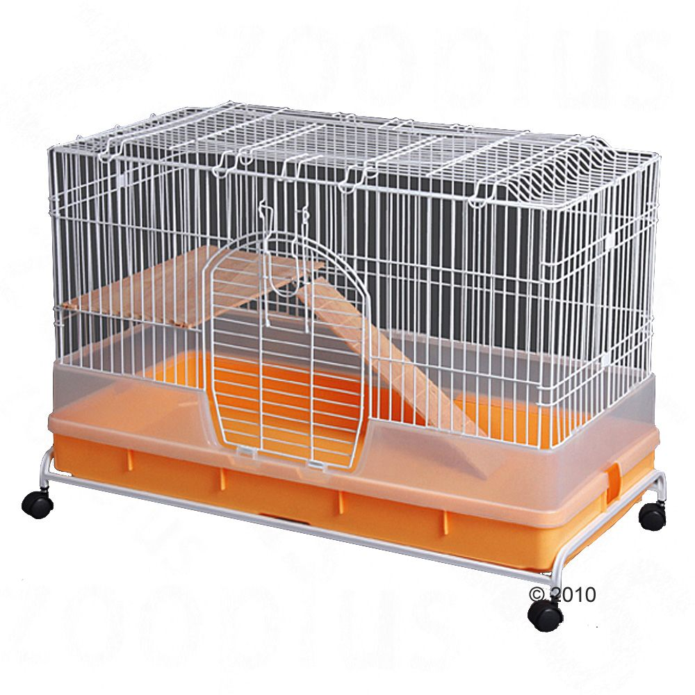 Your pet will love the move into this convenient bright pet cage for guinea pigs or rabbits