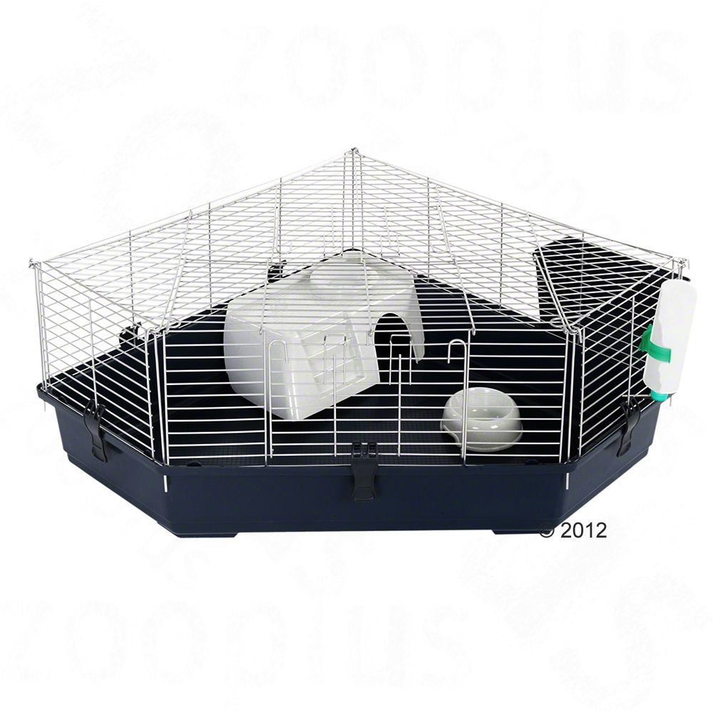 This space-saving cage for rabbits or guinea pigs will fit in anywhere