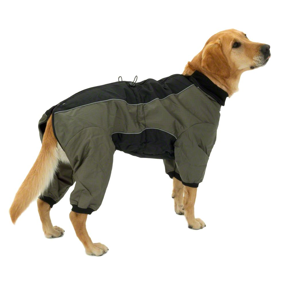 Dog Overall Long II is perfect for dog breeds that are sensitive to cold temperatures and mud from the winter streets and for dogs that are used to the cosy indoors - especially breeds with thin undercoats and senior dogs