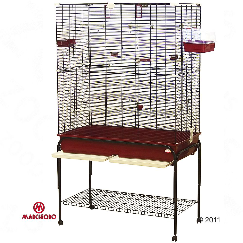 This spacious cage from Marchioro is big enough for groups of birds