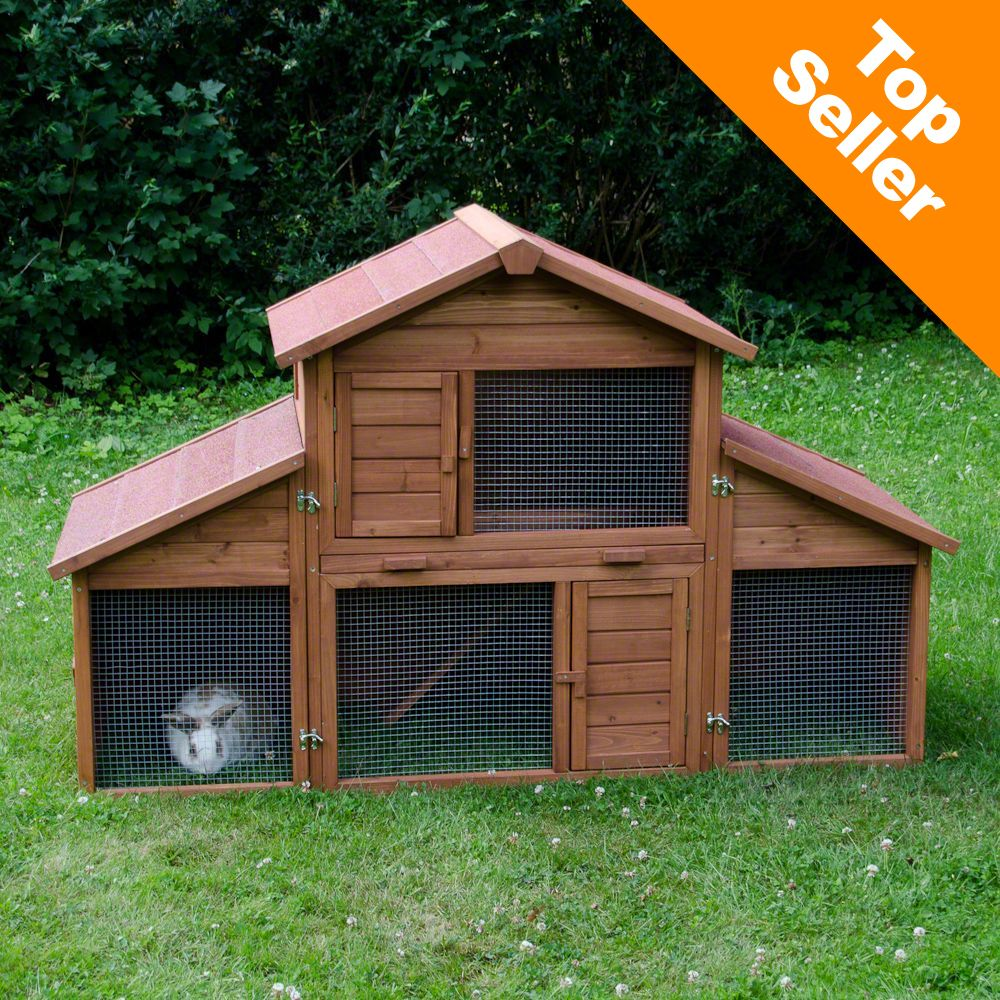 The Outback Rabbit Hutch Castle features a large run that can be individually adapted and extended with the detachable sides