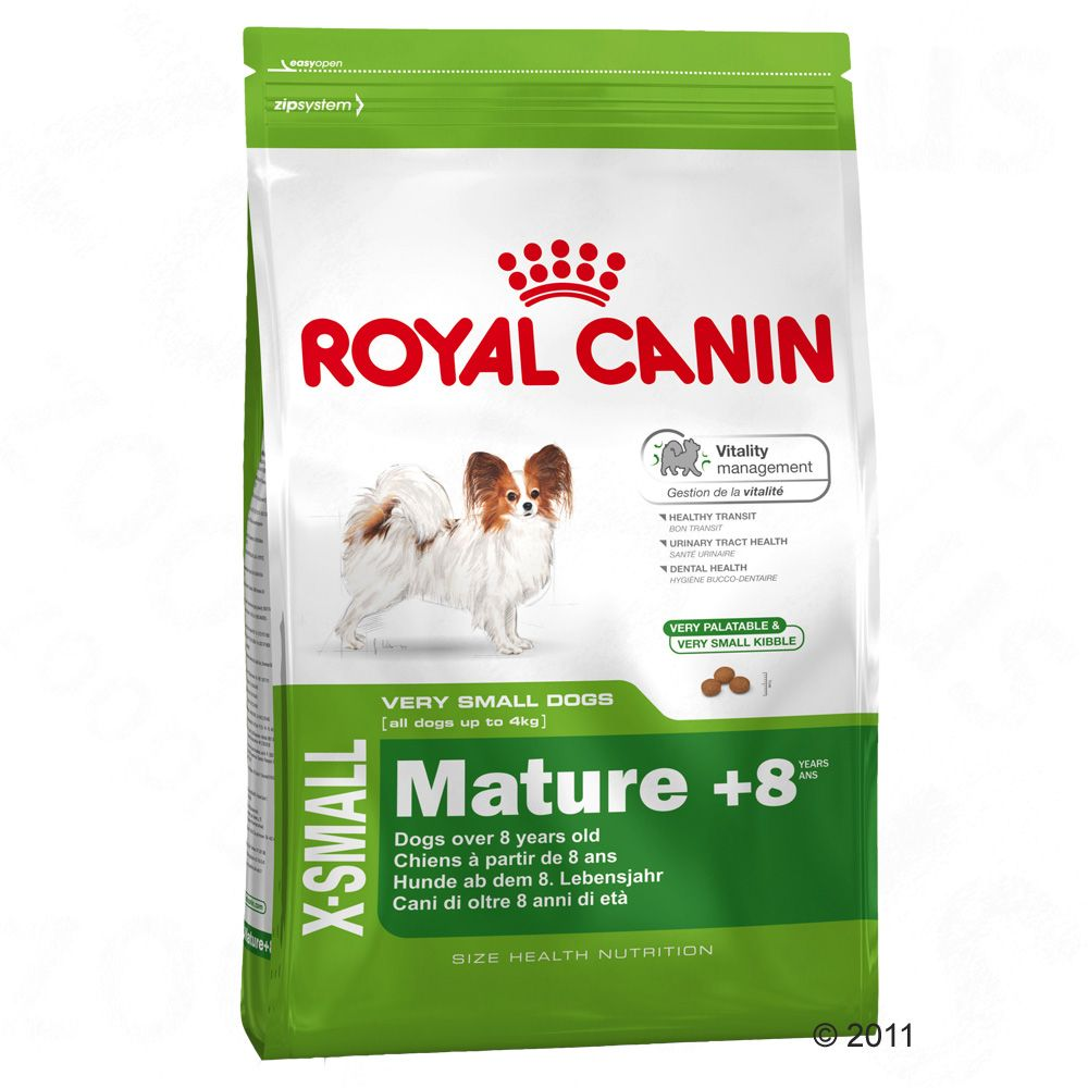Royal Canin X-Small Mature +8 specialised for very small dog breeds