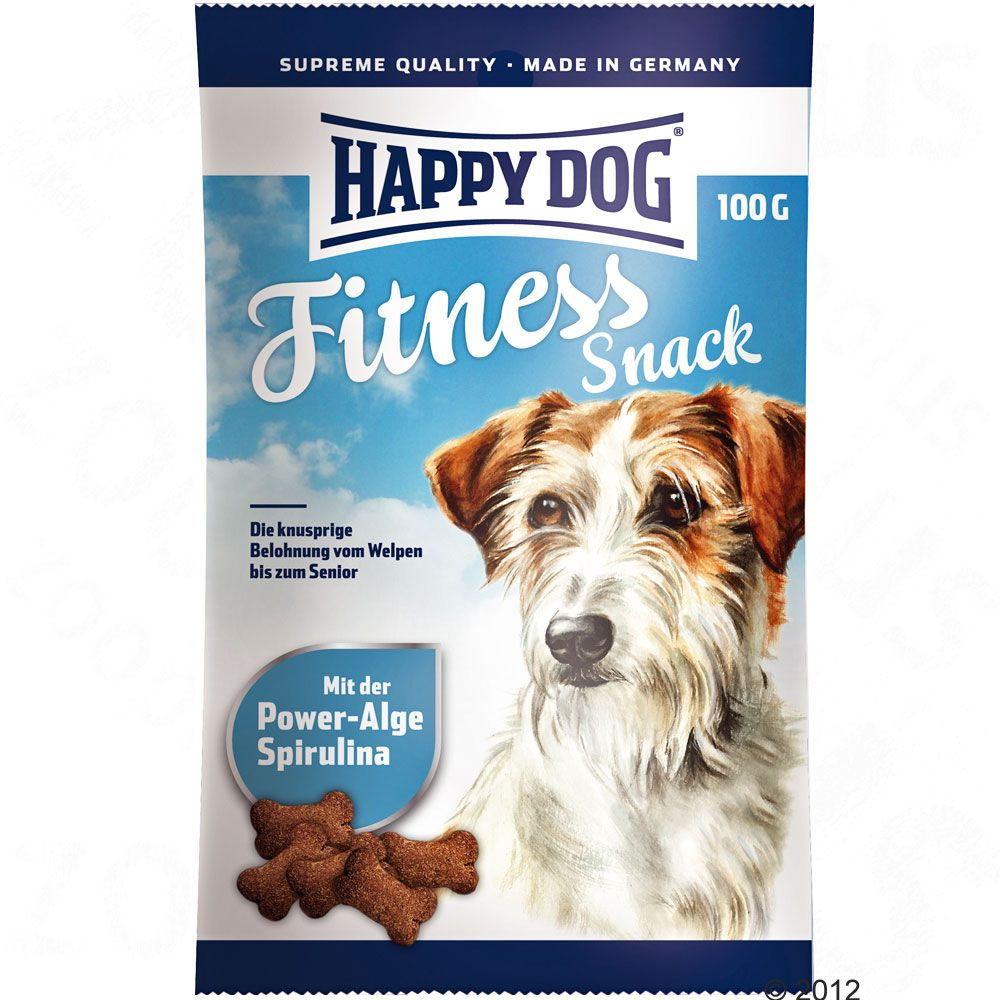 Happy Dog Supreme Fitness Snacks are delicious crunchy dog biscuits