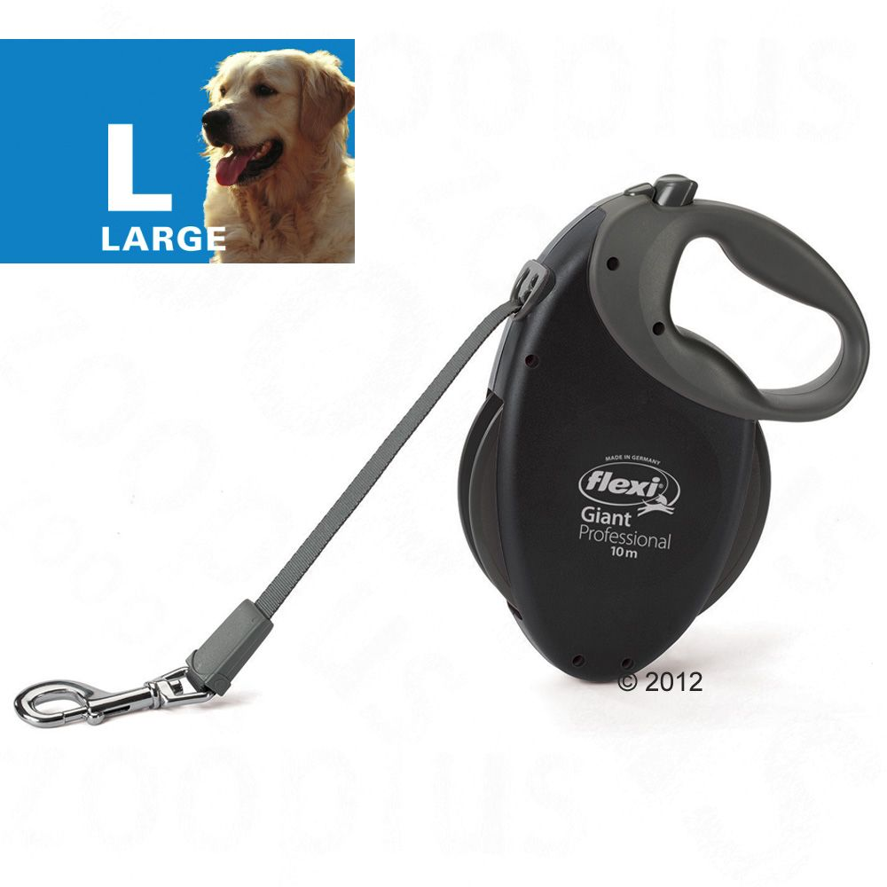 Dog lead Flexi Giant Professional is a robust and compact retractable lead for large dogs