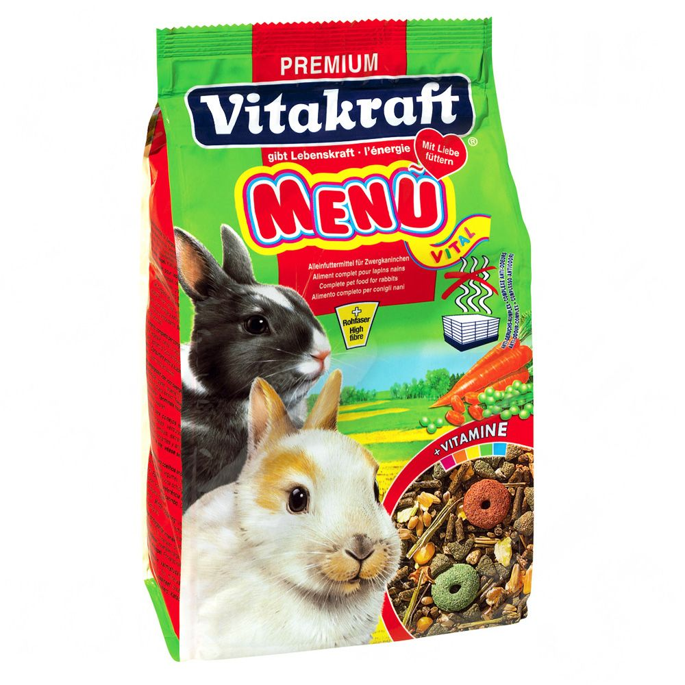 Vitakraft Menu Vital for Dwarf Rabbits is a traditional food and a great basis for a healthy rabbit diet