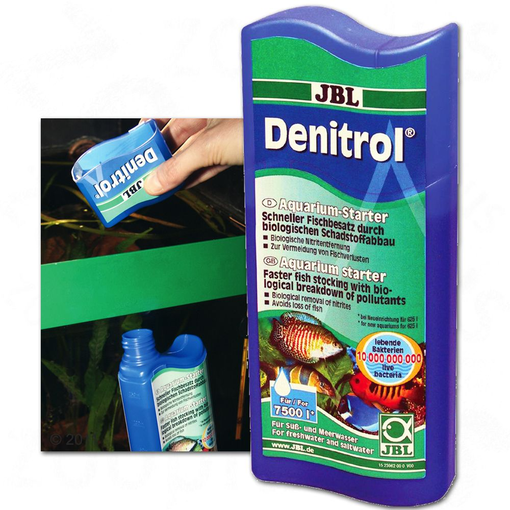 JBL Denitrol contains 10 billion (per 100 ml) bacteria of 8 different harmless species with synergic effects in a new style of formula