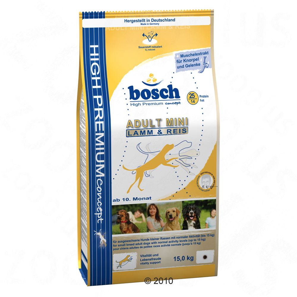 Bosch Dog Foods specifically formulated for smaller breeds that are choosy about their food