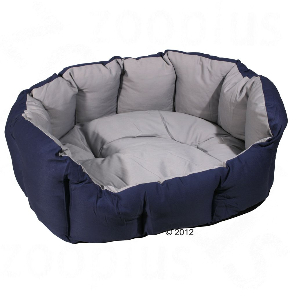 Fluffy two-tone bed with removable pillow