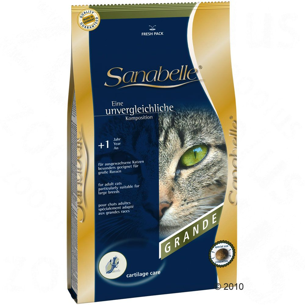 Sanabelle Grande cat food has been specially developed for fully-grown cats of large breeds