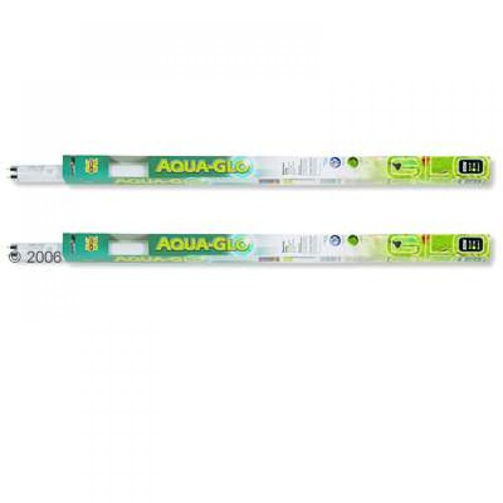 The Hagen Aqua-Glo Fluorescent Aquarium Lamp intensifies fish colors and promotes plant growth