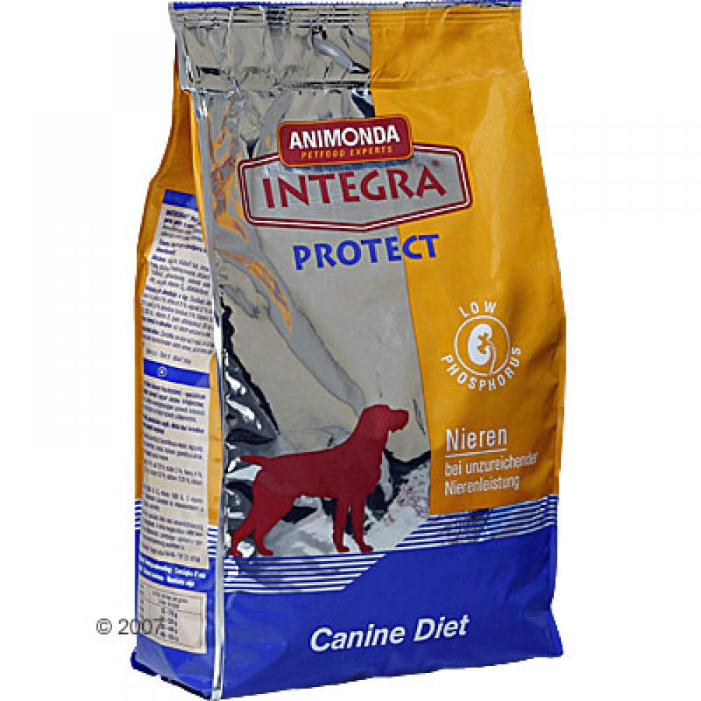 Dogs with limited or damaged Kidney functions (Kidney Deficiency) require a special diet low in Phosphorus and Protein