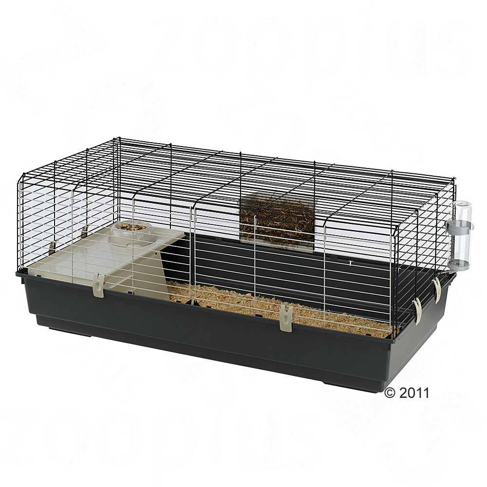 Ferplast Rabbit & Guinea Pig Cage 120 is a spacious cage for dwarf rabbits and guinea pigs