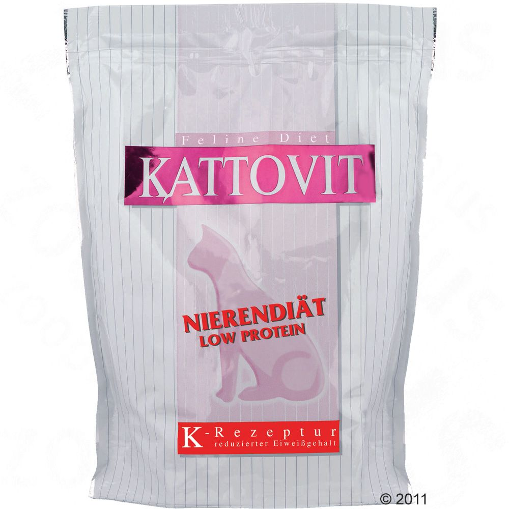 Kattovit Low Protein Dry Cat Food has been specially developed to provide a reduced protein diet for cats suffering from kidney damage suffering from liver disease (with normal fat levels) to prevent kidney stones A K-recipe by Kattovit Low Protein is specially designed with reduced protein and increased non-protein calories increased protein content can be damaging to the kidneys