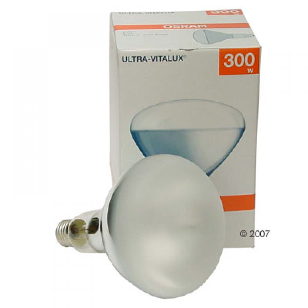 The Ultra Vitalux from Osram is a classic light bulb for you terrarium especially in the beginning of your reptile
