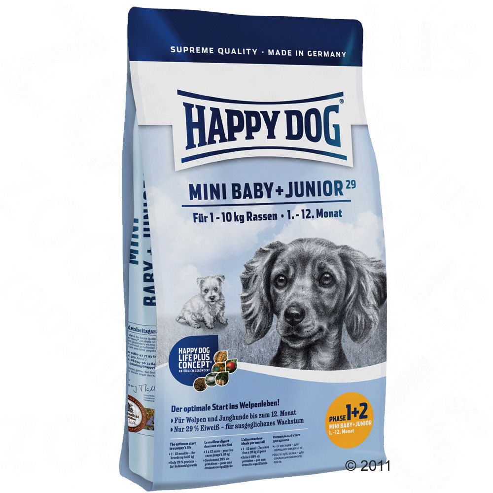 The protein and energy needs of young dogs and puppies of small breeds changes only negligibly during their development therefore the ideal protein supply of small breeds can be optimally adjusted by simply increasing your dog