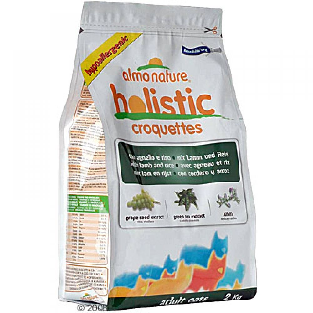 Almo Nature Holistic with Lamb & Rice is a balanced complete diet for adult cats
