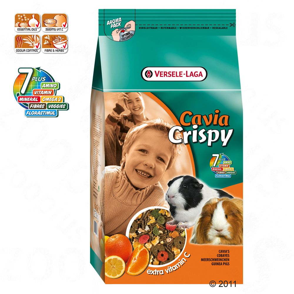 Prestige Cavia Crispy is a high-quality complete food especially made for guinea pigs and enriched with plenty of vitamin C