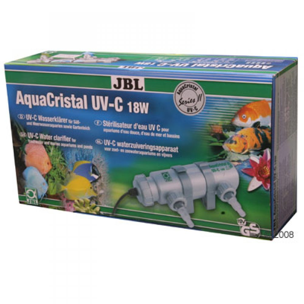 JBL AquaCristal UV-C Series II is the new and improved water clarifier from JBL for aquariums(fresh- and saltwater) and ponds Bacteria-destroying UV-C radiation of approx